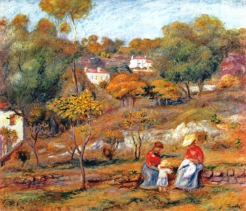 landscape at cagnes Pierre Auguste Renoir Oil Paintings