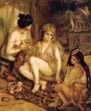 parisiennes in algerian dress Pierre Auguste Renoir Oil Paintings