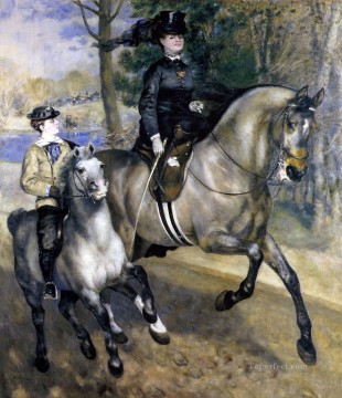 Pierre Auguste Renoir Painting - riding in the bois de boulogne Pierre Auguste Renoir