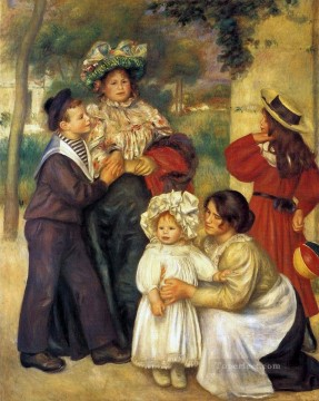 Artists Oil Painting - the artists family Pierre Auguste Renoir
