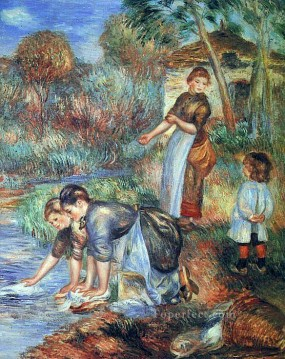 Pierre Auguste Renoir Painting - the washer women Pierre Auguste Renoir