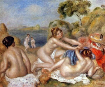 Pierre Auguste Renoir Painting - three bathers Pierre Auguste Renoir