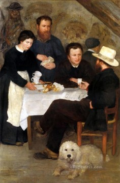 Pierre Auguste Renoir Painting - mother anthonys inn at marlotte Pierre Auguste Renoir
