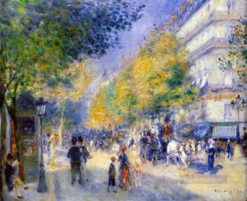 the great boulevards Pierre Auguste Renoir Oil Paintings