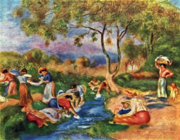 washerwomen Pierre Auguste Renoir Oil Paintings