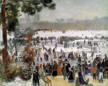 skaters on the bois de boulogne Pierre Auguste Renoir Oil Paintings