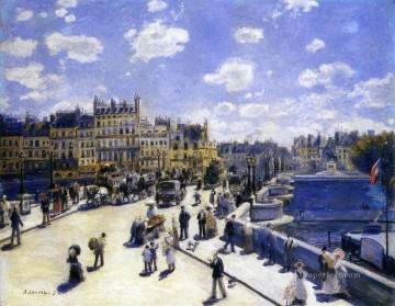 the pont neuf paris Pierre Auguste Renoir Oil Paintings