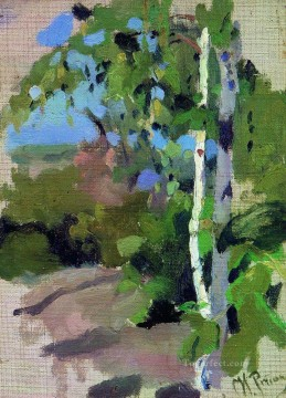 Repin Art Painting - birch trees sunny day Ilya Repin
