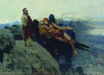 Ilya Repin Painting - temptation of christ 1896 Ilya Repin