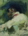 a man in white jacket 1913 Ilya Repin