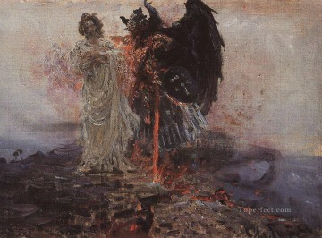 1895 Works - follow me satan 1895 Ilya Repin