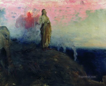 jesus christ Painting - follow me satan temptation of jesus christ 1903 Ilya Repin