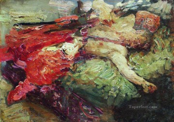sleep Painting - sleeping cossack 1914 Ilya Repin