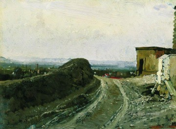Paris Art - the road from montmartre in paris 1876 Ilya Repin