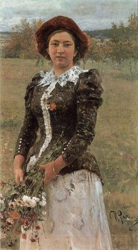 Repin Art Painting - Autumn Bouquet Russian Realism Ilya Repin