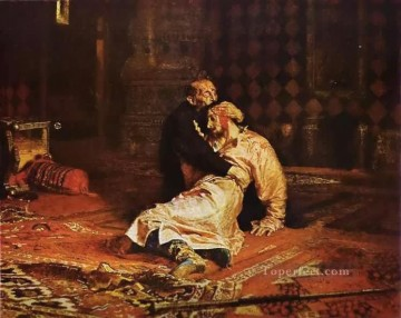 Repin Art Painting - Ivan the Terrible and His Son Russian Realism Ilya Repin