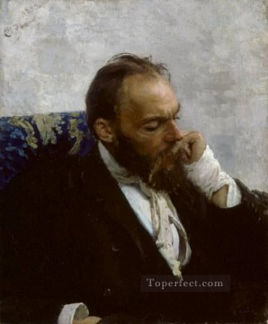Russian Art - Portrait of Professor Ivanov Russian Realism Ilya Repin