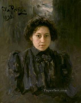 Artists Oil Painting - Portrait of the artists daughter Nadezhda Russian Realism Ilya Repin