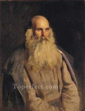 Repin Art Painting - Study of an Old Man Russian Realism Ilya Repin