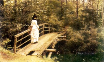Ilya Repin Painting - bridge in abramtsevo 1879 Ilya Repin