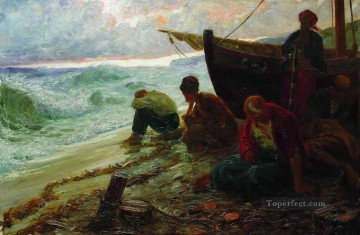 Ilya Repin Painting - end of the black sea freedom Ilya Repin