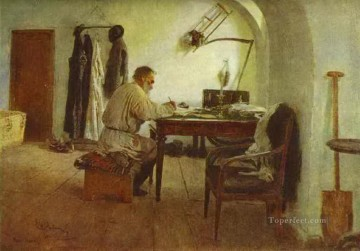 Repin Art Painting - leo tolstoy in his study 1891 Ilya Repin