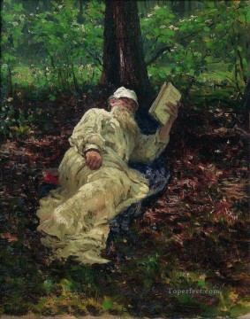 Ilya Repin Painting - leo tolstoy in the forest 1891 Ilya Repin