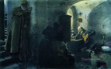 mona lisa Painting - monk filaret imprisoned in the antonievo siyskiy monastery Ilya Repin