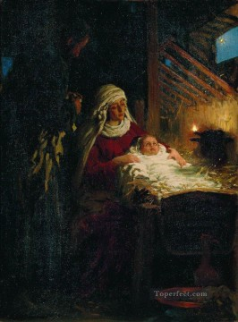 Ilya Repin Painting - nativity 1890 Ilya Repin