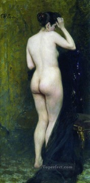 1896 Oil Painting - nude model from behind 1896 Ilya Repin