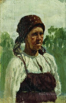 Ilya Repin Painting - old woman Ilya Repin