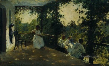 1908 Works - on the terrace 1908 1 Ilya Repin