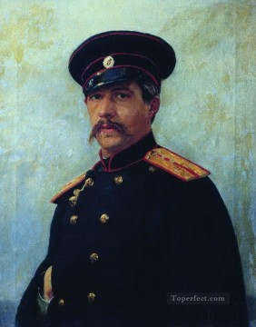 Wife Deco Art - portrait of a military engineer captain a shevtsov brother of the artist s wife 1876 Ilya Repin