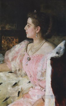 1896 Oil Painting - portrait of countess natalia golovina 1896 Ilya Repin