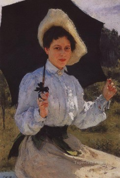 1900 Works - portrait of nadezhda repina the artist s daughter 1900 Ilya Repin