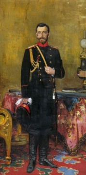 1895 Works - portrait of nicholas ii the last russian emperor 1895 Ilya Repin