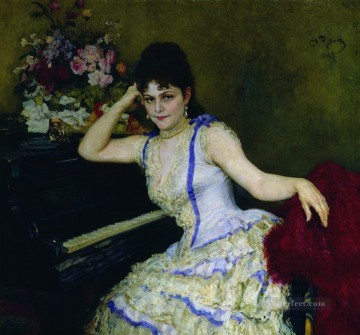 equestrian portrait of maria luisa of parma Painting - portrait of pianist and professor of saint petersburg conservatory sophie menter 1887 Ilya Repin
