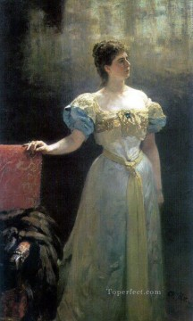 1896 Oil Painting - portrait of princess maria klavdievna tenisheva 1896 Ilya Repin