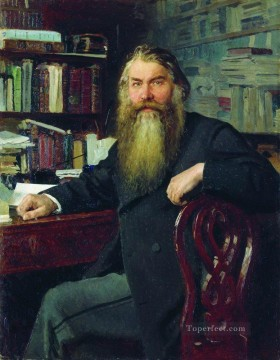 portrait of the historian and archaeologist ivan egorovich zabelin 1877 Ilya Repin Oil Paintings