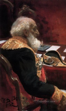 Ilya Repin Painting - portrait of the honorary member of the academy of sciences and academy of arts p p semenov tian Ilya Repin