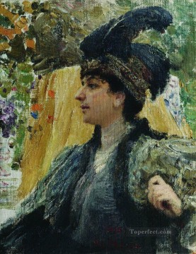 1916 Works - portrait of v v verevkina 1916 Ilya Repin