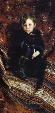 Ilya Repin Painting - portrait of yuriy repin the artist s son 1882 Ilya Repin