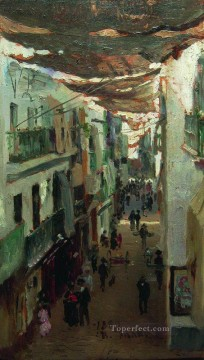 1883 Works - street of the snakes in seville 1883 Ilya Repin