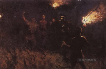 Repin Art Painting - taking christ into custody 1886 Ilya Repin