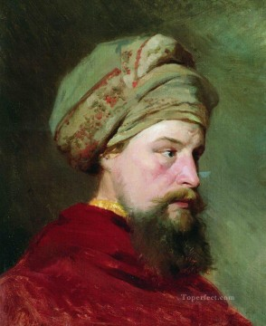 Ilya Repin Painting - the sitter s head the second half of the xix century Ilya Repin