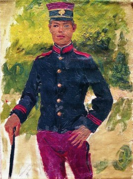 Paris Painting - the young soldier parisian style Ilya Repin