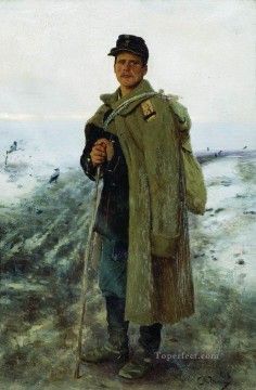 hero beijing opera jacky chen Painting - to his homeland the hero of the last war 1878 Ilya Repin