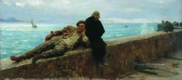 Ilya Repin Painting - tramps homeless 1894 Ilya Repin