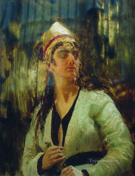 Ilya Repin Painting - woman with dagger Ilya Repin