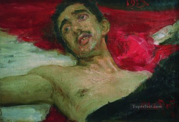 1913 Oil Painting - wounded man 1913 Ilya Repin